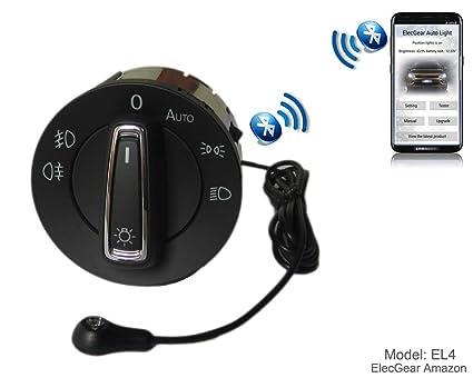 el4 headlight fog light auto sensor retrofit switch, bluetooth app control  coming leaving home module