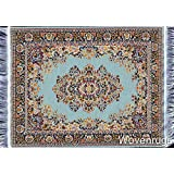 Oriental Woven Rug Mouse Pad - Turkish Style Carpet Mousemat (Turquoise)