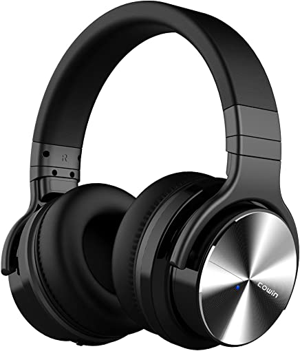 COWIN E7 PRO Upgraded Active Noise Cancelling Headphones Bluetooth Headphones with Microphone Deep Bass Wireless Headphones Over Ear 30 Hours Playtime for Travel Work Cellphone, Black