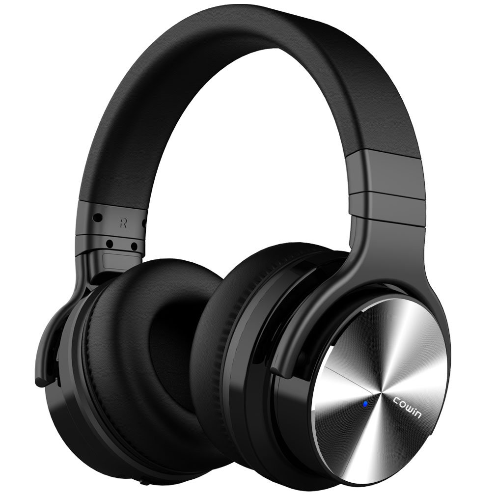 COWIN E7 PRO [Upgraded] Active Noise Cancelling Headphones Bluetooth Headphones with Microphone/Deep Bass Wireless Headphones Over Ear 30 Hours Playtime for Travel/Work/Cellphone, Black by cowin