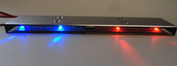 Apex RC Products 1/10 16 LED Police Light Bar W/9 Selectable Modes #9015RB