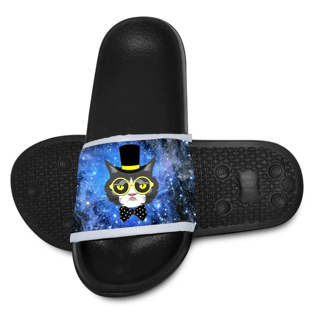 Kids Funny Glasses Cat Summer Slide Slippers