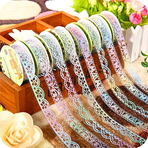 New Washi Tapes Scrapbooking Stickers Washi 36 pcs/Lot New Bling Bling Lace Tapes Novelty Masking Tape DIY Scrapbooking Sticker washi Tape School Supplies 6845