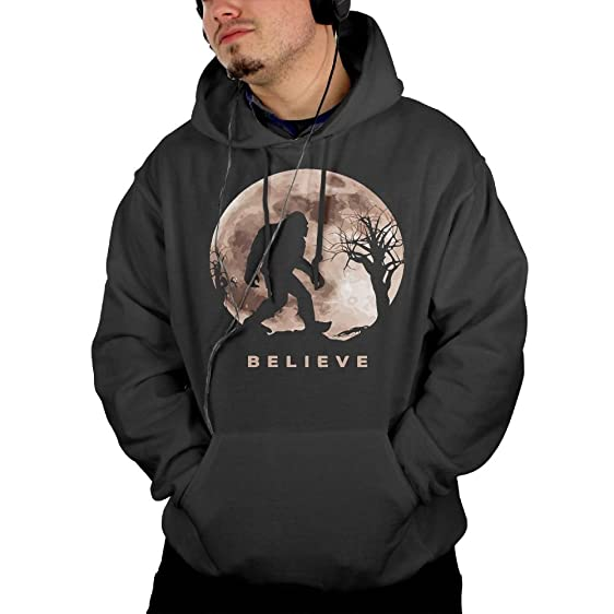 Pinullo Funny Bigfoot Sasquatch Full Moon.PNG Mens Pullover Hooded Sweatshirt S