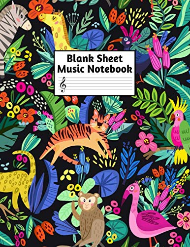 Blank Sheet Music Notebook: Easy Blank Staff Manuscript Book Large 8.5 X 11 Inches Musician Paper Wide 12 Staves Per Page for Piano, Flute, Violin, ... other Musical Instruments - - Kaiser Inch 11