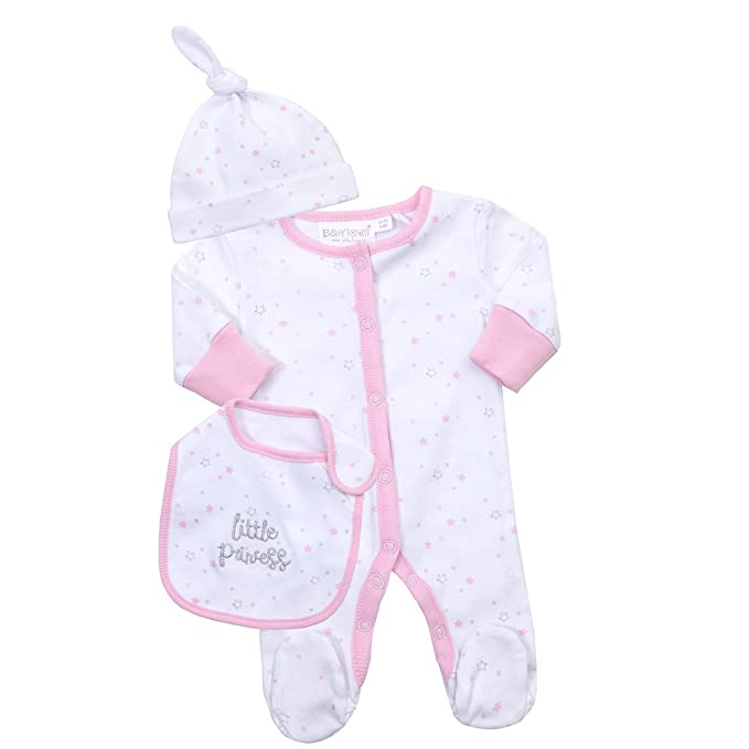 BabyPrem Premature Baby Girls Clothes Preemie Sleepsuit Vest /& Hat Outfit 1-7lbs