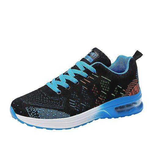 ESAILQ -Zapatillas para Hombre,Zapatillas Unisex Adulto,Zapatillas Running para Hombre Aire Libre y Deporte Transpirables Casual Zapatos Gimnasio Correr ...