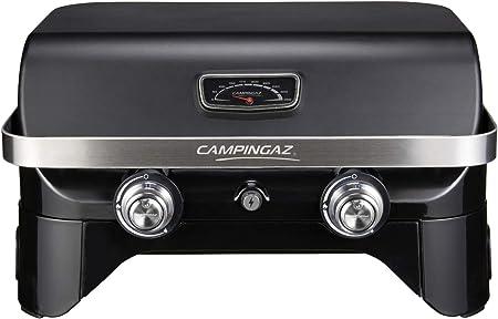 Campingaz Attitude 2100 LX - Barbacoa de gas portátil, 2 quemadores de acero, 5 kW de potencia, barbacoa de gas de camping con tapa, termómetro y ...