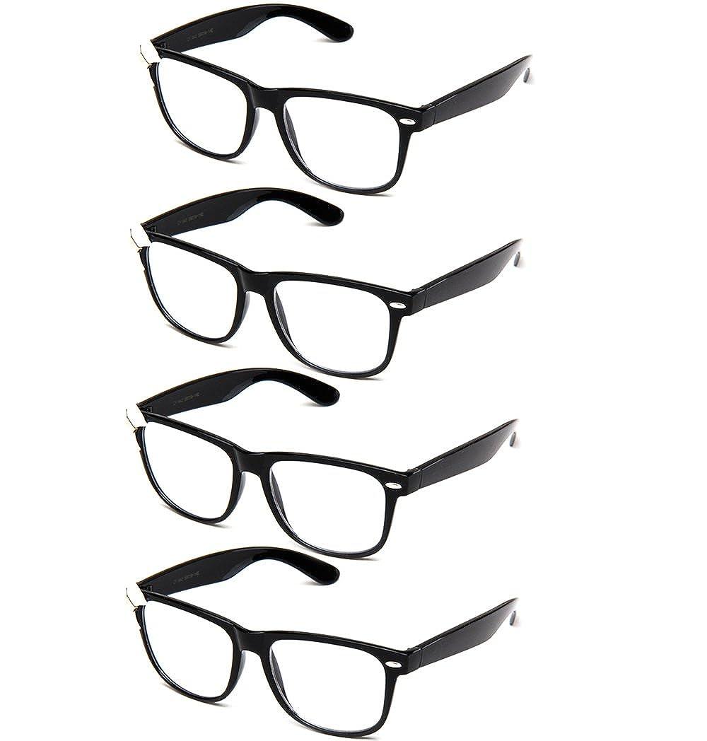 e5ad56b4075f Amazon.com  Newbee Fashion IG Women Cute Fancy Bow Clear Lens Glasses Thick  Frame Nerd Geek  Clothing