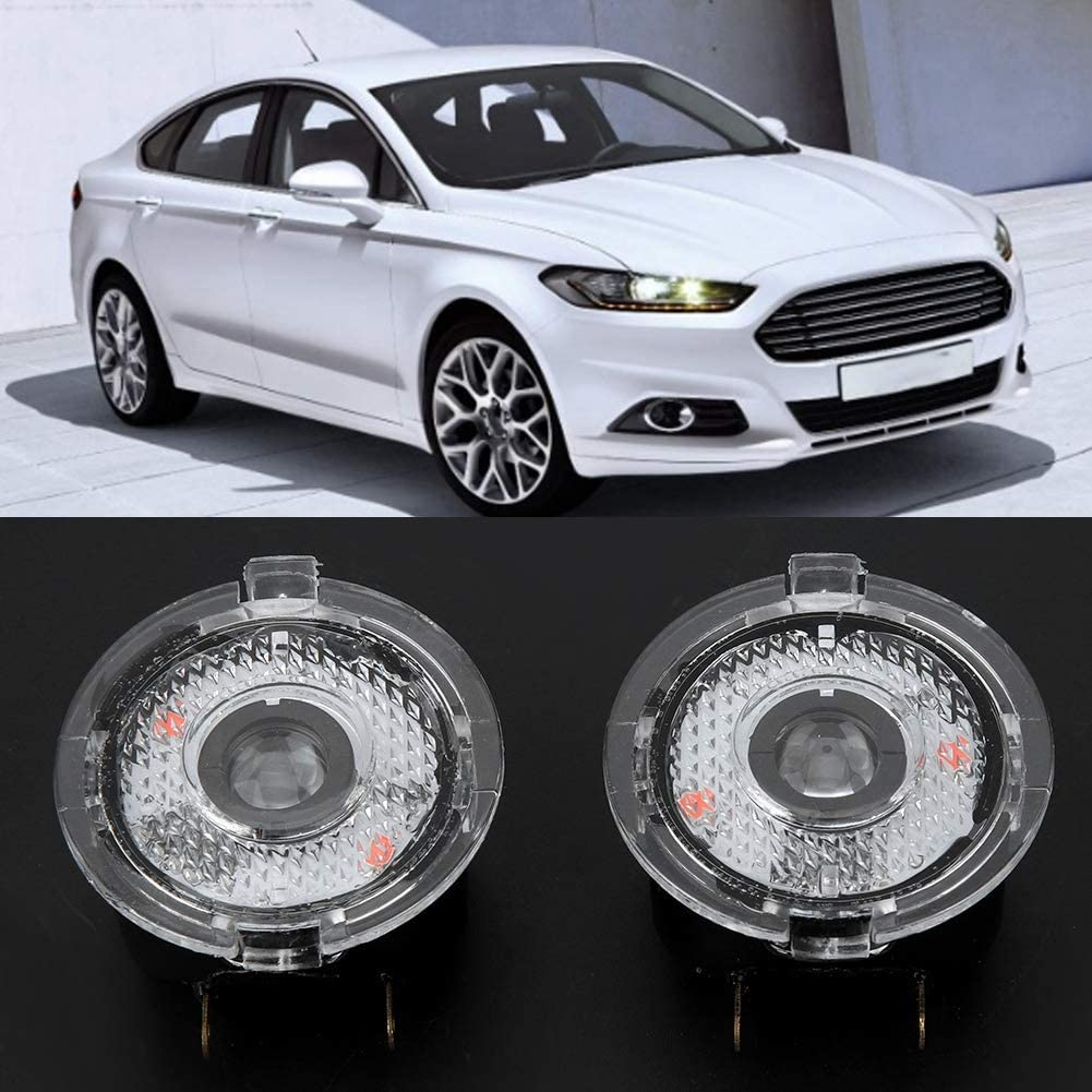 Courtesy Light 1 Pair of Car Rearview Mirror Logo Projector Shadow Lamp LED Door Welcome Light Kit Fit for EDGE MONDEO EXPLORER F-150 TAURUS