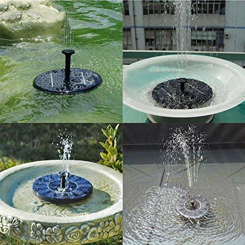Solar power pump bird bath fountain oenbopo solar power for Small garden pond water pumps