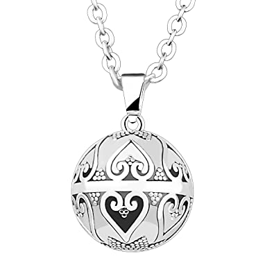 Silver pendant necklace long antique silver angel sounds bali lucky silver pendant necklace long antique silver angel sounds bali lucky gift jewelry heart aloadofball Choice Image