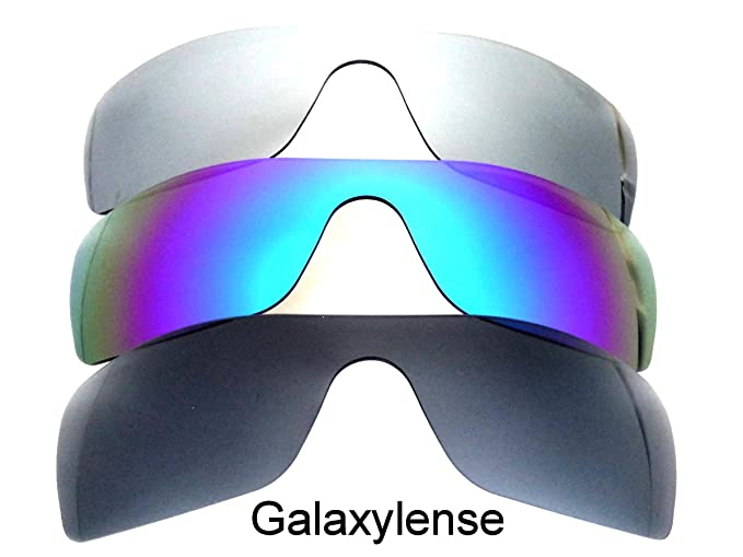 0091f7ca91 Amazon.com  Galaxy Replacement Lenses for Oakley Batwolf  Black Blue Titanium Color Polorized 3 Pairs  Clothing