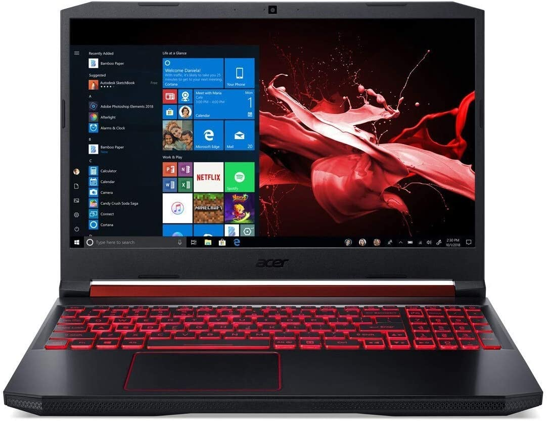 "Acer Nitro 5 - 15.6"" Laptop Intel i5-9300H 2.4GHz 8GB Ram 1TB HDD 128GB SSD Windows 10 Home (Renewed)"