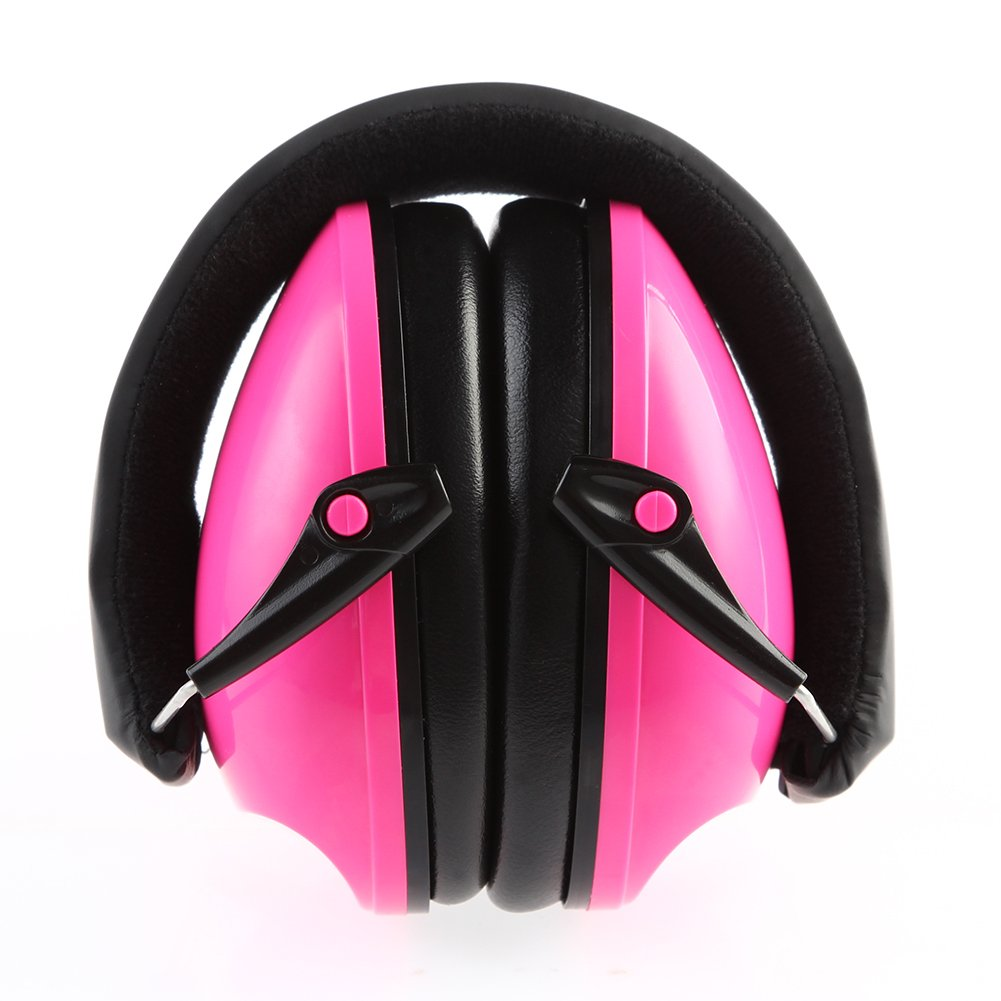 Ear muff Hearing Protection for Kids and Adults, Baby Airplane Ear Muffs Noise Cancelling Headphones, Newborns Sound Blocking Earphones (pink)