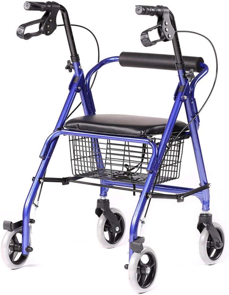 Shanghai antiguo carro de compras HBLX301 walker con rueda con asiento walker walker plegable