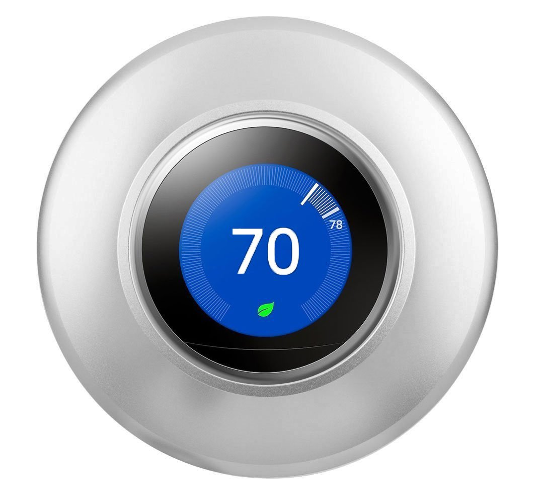 2nd 1st Generation and Nest Thermostat E Silver POPMAS Wall Plate-Metal Wall Plate Cover for Nest Thermostat 3rd