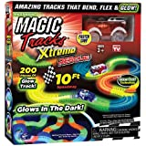 Ontel Magic Tracks Xtreme with Race Car and 10 ft of Flexible Bendable Glow in the Dark Racetrack As Seen on TV