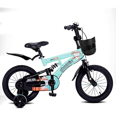 no logo NIAN Kids Bike Boys Girls Freestyle Bicycle with Training Wheels Kickstand Child's Street Dirt Bike Tricycle Student Bicycle Old Boys and Girls Shocker Children Bicycle: Home & Kitchen
