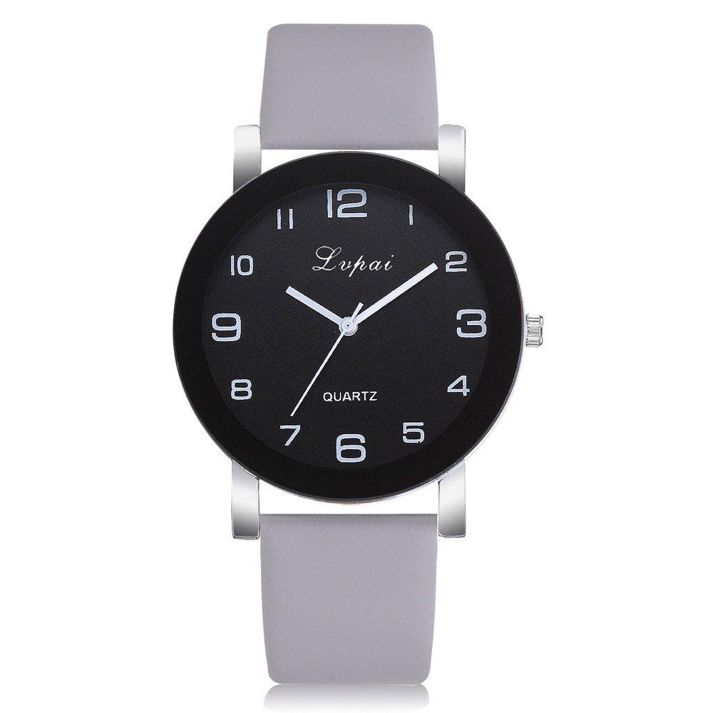 Womens Fashion Watch,Women's Casual Quartz Leather Band Watch Analog Wrist Watch,Women's Wrist Watches,Gray