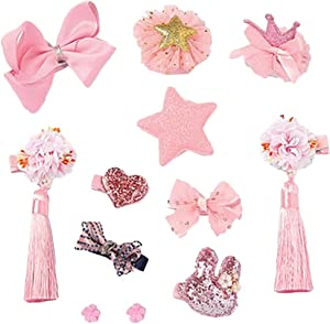 Black Temptation Cute Girls Hair Accessories Hair Clips Hair Bands Conjunto de Joyas Little Girl Presente de cumpleaños #12