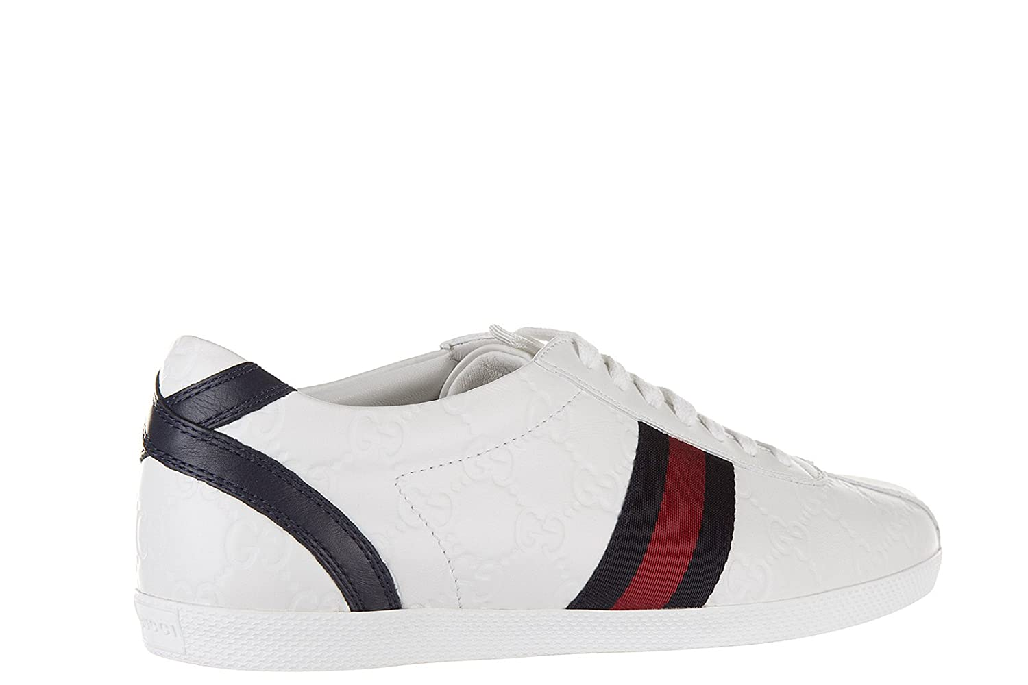 03381fac952 Gucci Women s Shoes Leather Trainers Sneakers mirò Soft guccissima White UK  Size 5 408496 AXWL0 9064  Amazon.co.uk  Shoes   Bags