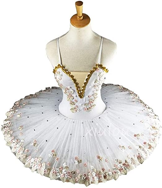 YUANYUAN520 Bailarina Profesional Blanca Tutú De Ballet For Niños ...