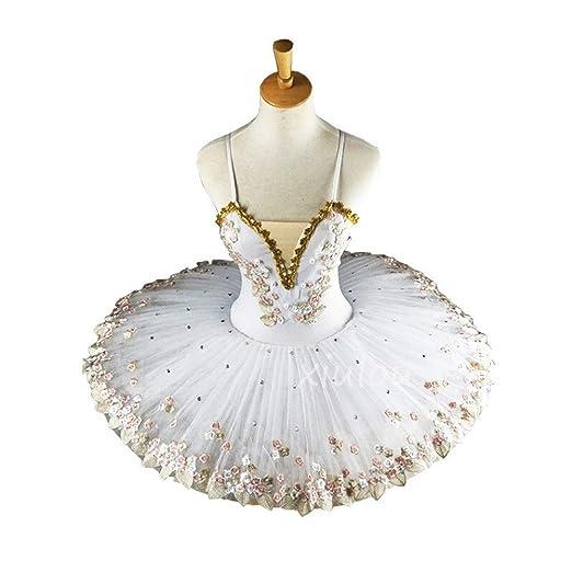 YUANYUAN520 Bailarina Profesional Blanca Tutú De Ballet For ...
