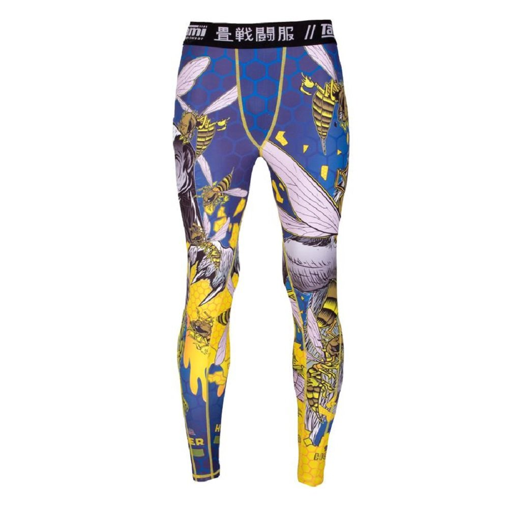 Tatami Spats de Compression Honey Badger V5 – MMA BJJ Spats Leggings de Sport Fitness Grappling No GI pour Homme Combat Pantalon de Sport Tatami Fightwear