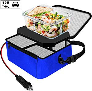 TrianglePatt Portable Oven,12V Portable Food Warmer for Car Mini Microwave for heated Meals,Upgraded Lunch Warmer Box with Bag for Travel, Camping,Outdoor Job,Potlucks, and Home Kitchen