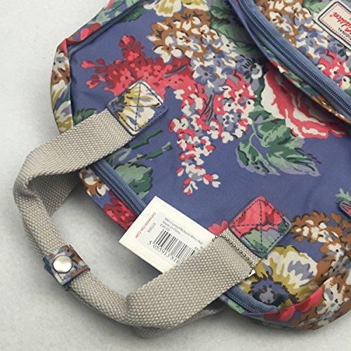 "Cath Kidston Matt Oilcloth Backpack Rucksacks Bloomsbury Bouquet Blue Fitting 13"" Laptop"