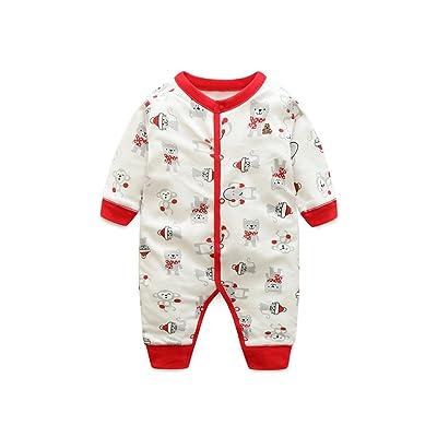 Newborn Bébé Barboteuse,Feicuan Combinaisons Tenues Animals Bodys Manches longues Sleepsuit Infant Unisex 3-18 mois
