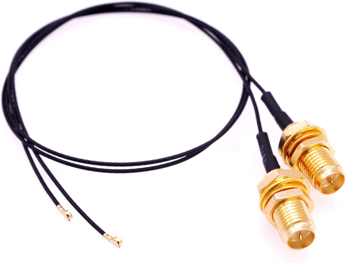 Deal4GO - Conector de Antena Hembra IPEX4 MHF4 de 30 cm para M2 NGFF WLAN Card AX200NGW 9560 9260 8265 8260 7265 7260