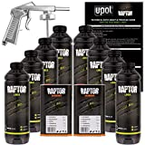 U-POL Raptor Black Urethane Spray-On Truck Bed Liner Kit w/ FREE Spray Gun, 8 Liters by U-Pol