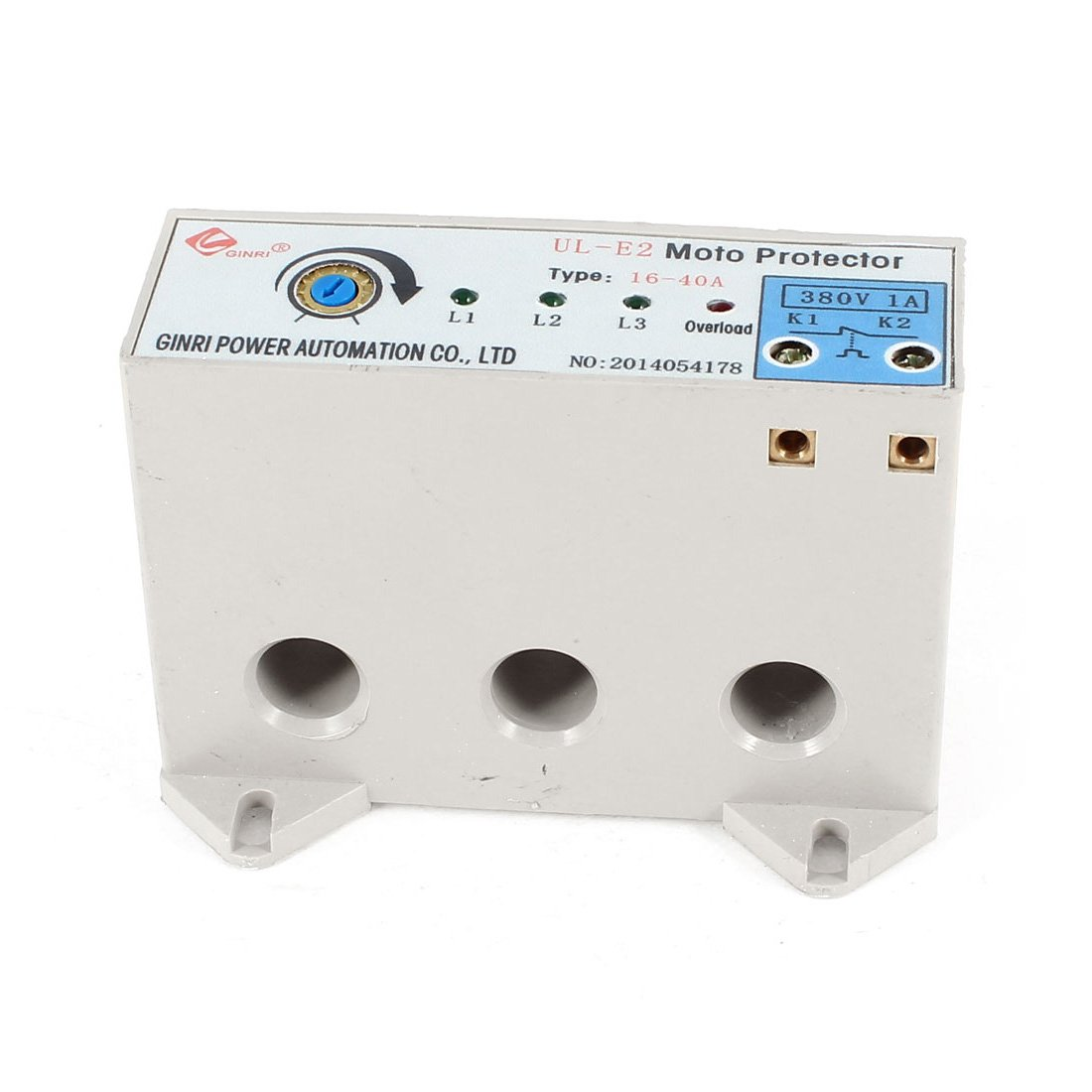 uxcell UL-E2 3 Phase 16-40 Ampere Adjustable Current Motor Circuit Protector AC24-380V by uxcell (Image #1)