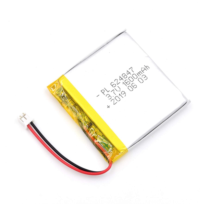 Bateria Lipo 3.7V 1600mAh 624847 Recargable JST Conector