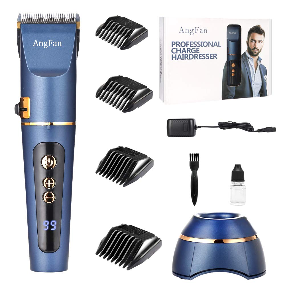 Hair Clippers For Men, 3 speed Cordless Hair Cutter For Men Barber Hair Trimmers, Clippers For Hair Cutting Haircut Barbers Trimmer Kit, Professional Hair Cut Machine Kit With Guide Combs Brush