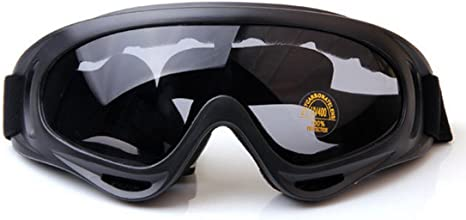 Black Snow Snowmobile Motorcycle SKI UV GOGGLES Adults Windproof Anti Fog Sports