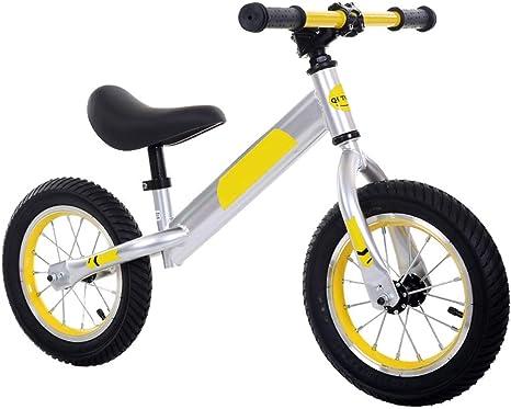 LGLE Bicicleta Sin Pedales Niños 2 3 4 5 6 Años,Yellow: Amazon.es ...