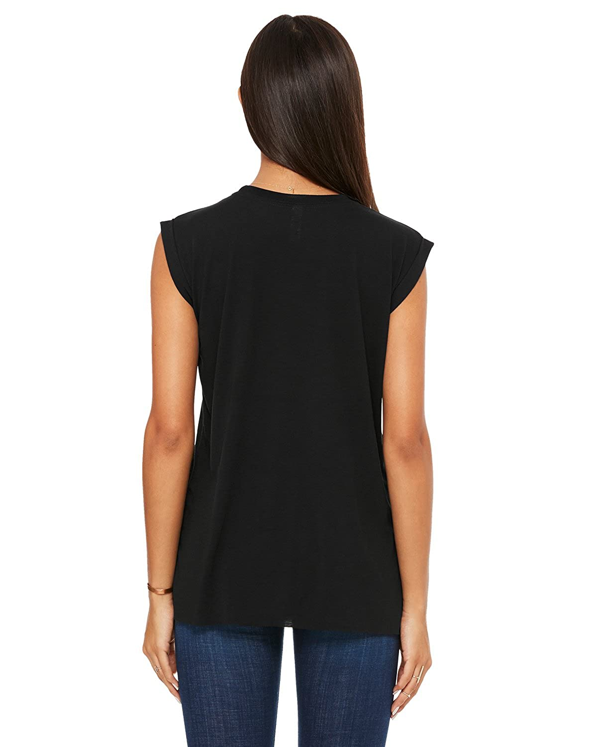 636e2653913 Bella + Canvas Women s Flowy Muscle Tee with Rolled Cuff at Amazon Women s  Clothing store