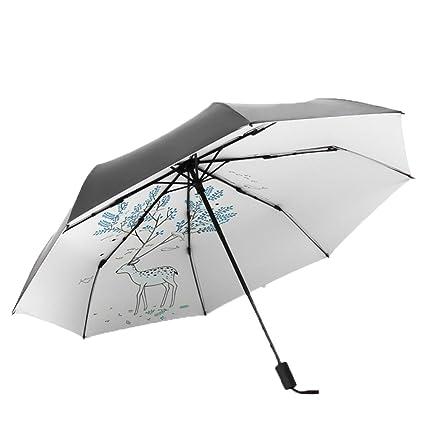 AFCITY Mujer Hombre Paraguas Viaje Paraguas Plegable al Aire Libre de la protección contra los Rayos