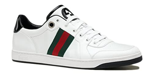 40a631a6c12ab Image Unavailable. Image not available for. Colour  Gucci Men s Lace Up  Trainer with Interlocking G   Web Detail ...