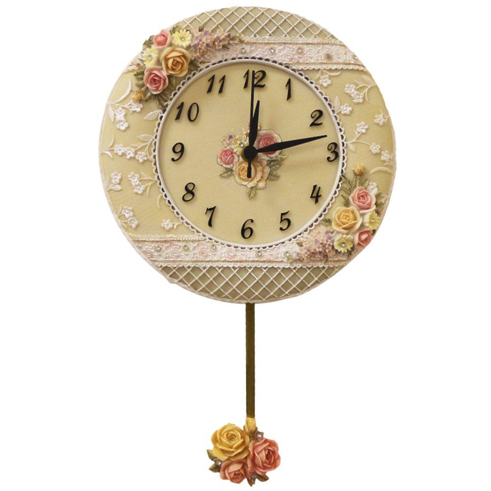 Cai 置き時計掛け時計-ヨーロッパの片面時計の装飾ミュートの壁時計居間の壁の性能石英の壁の時計(スタイルオプション) ( 色 : B ) B07C5FR8BVB