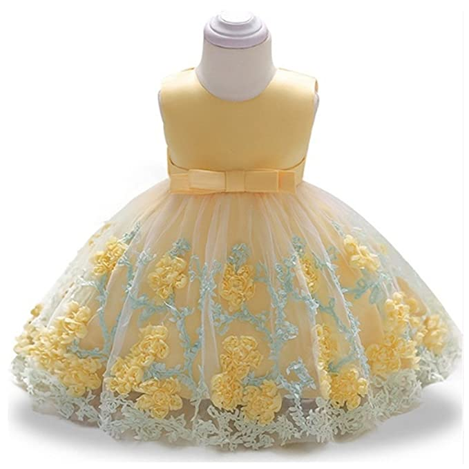 Amazon.com: Chiced Girls Dresses Bowknot Princess Wedding Gown Dress ...
