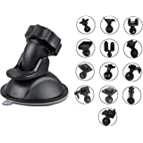 ShipeeKin Car Suction Cup Dash Cam Mount for Vehicle Video Recorder on Windshield & Dash Board with 13 Joints for Driving Camcorder GPS