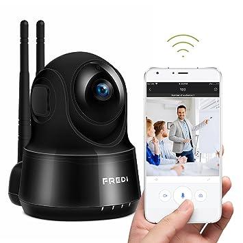 98149cc6f59e Pan/Tilt FREDI WiFi Cámara IP/Cámara de Vigilancia/Cámara Seguridad y  Inalámbrica HD 720P/Vigilabebes Baby Monitor IR Visión Nocturna / Detección  de ...