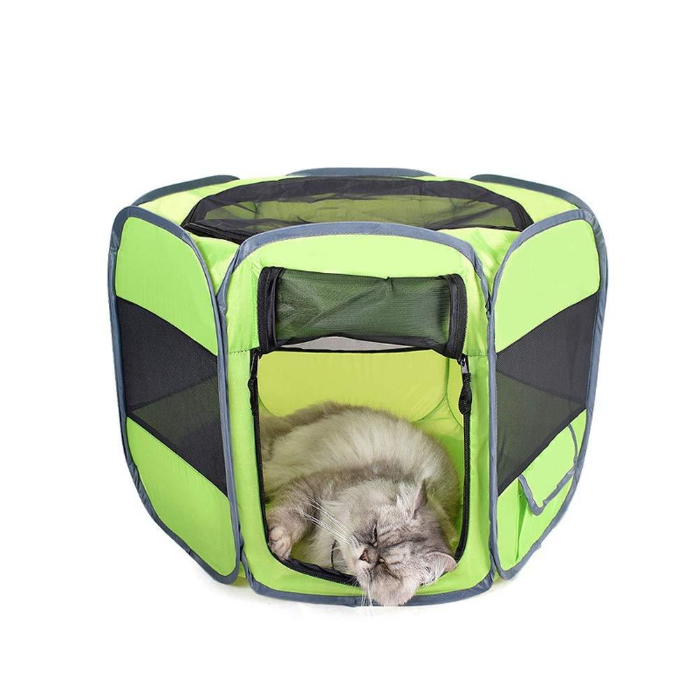 Green M Green M FELICIOO Convenient Foldable Car Kennel Oxford Pet Bag (color   Green, Size   M)