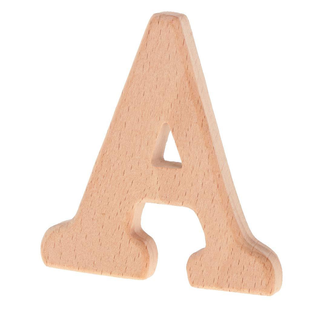 IPOTCH Holz Buchstaben Holz Kleinbuchstaben fü r Kunst Handwerk - A