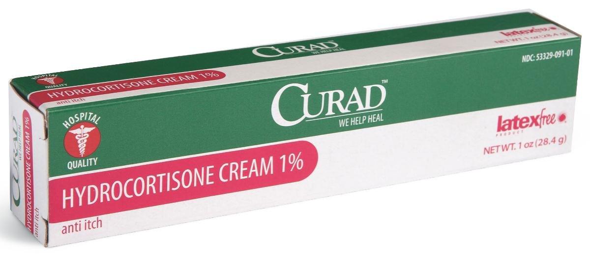 Medline CUR015431 Curad Hydrocortisone Cream 1%, 10 oz Tube (Pack of 12) by Curad