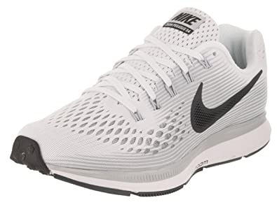 buy popular b938e eed99 Nike Women's WMNS Air Zoom Pegasus 34, White/Anthracite-Pure Platinum, 9 M  US